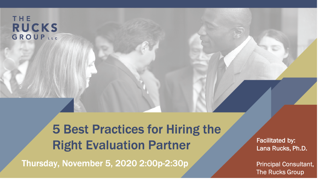 Webinar: 5 Best practices for Hiring the Right Evaluation Partner