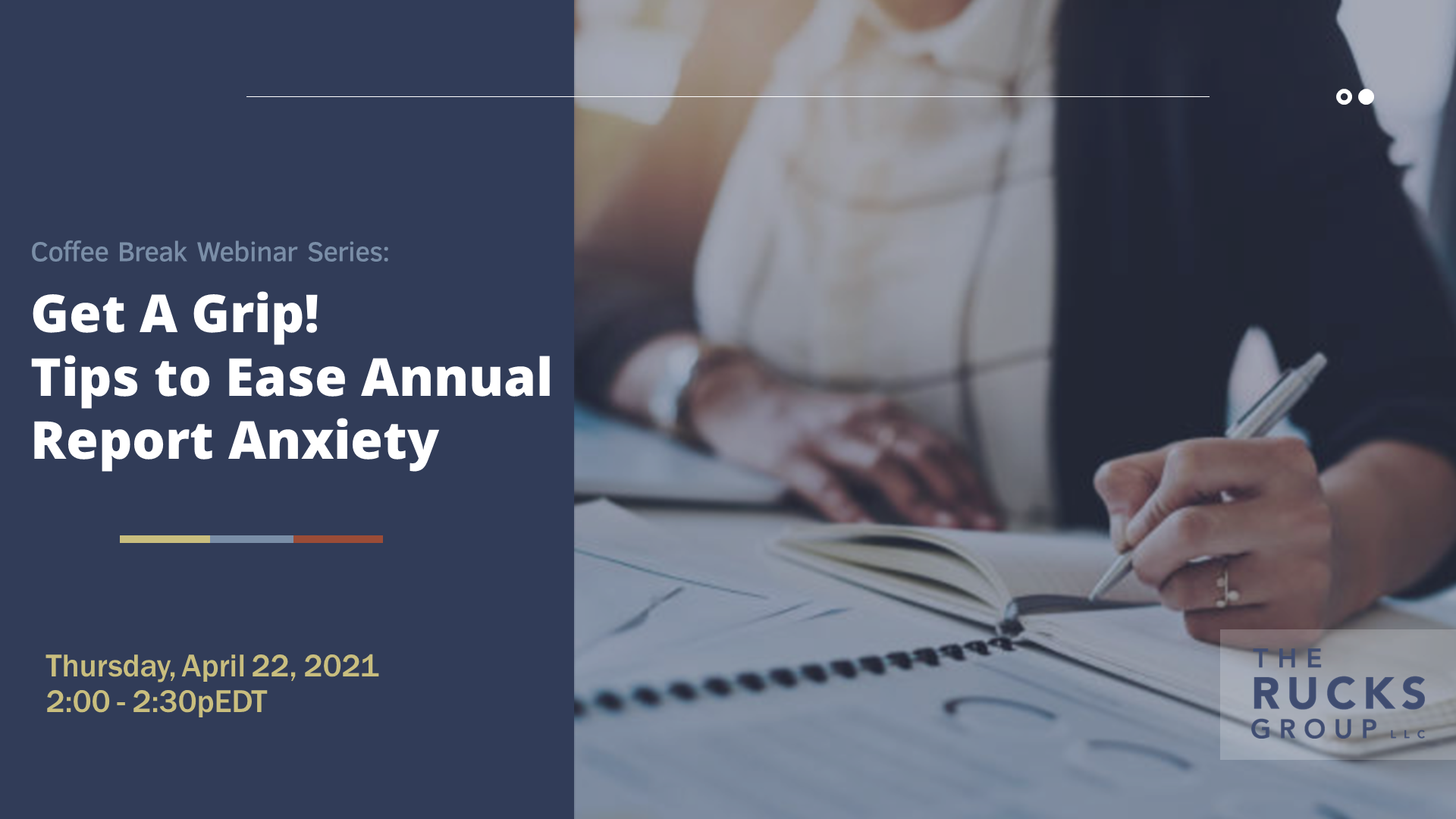 Webinar: Tips to ease annual report anxiety