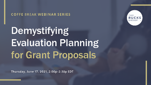 Demystifying Evaluation Planning for Grant Proposals
